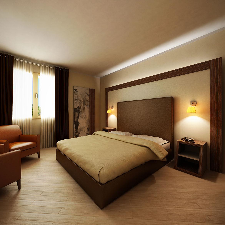 Computer grafica bimbrescia render for Camere albergo design